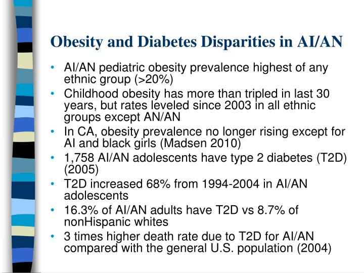 Obesity and Diabetes Disparities in AI/AN