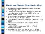obesity and diabetes disparities in ai an