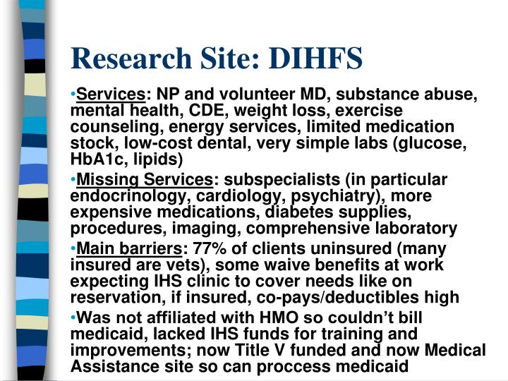Research Site: DIHFS