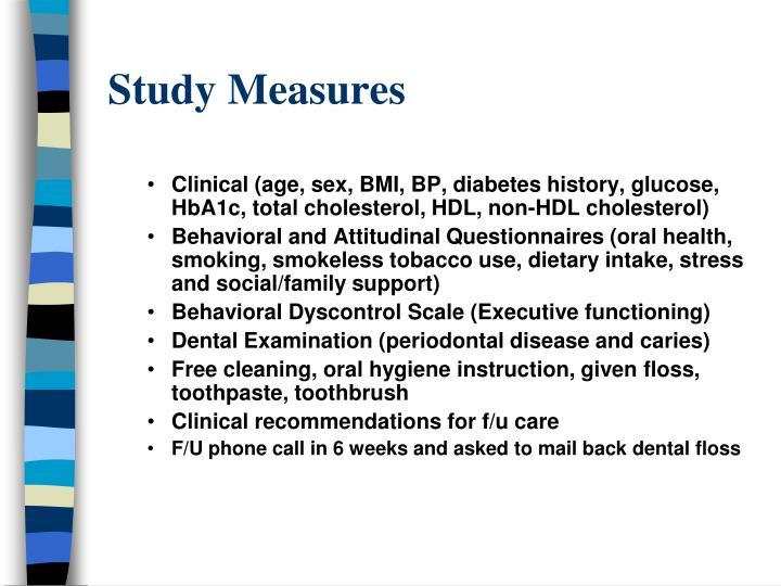 Study Measures