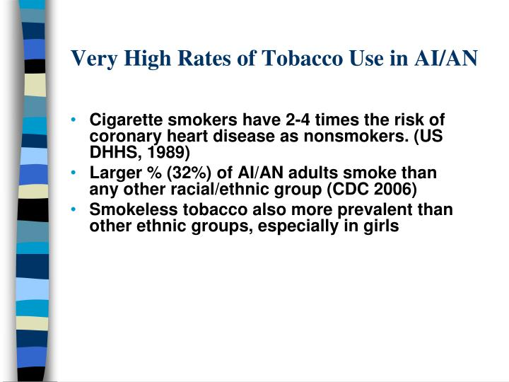 Very High Rates of Tobacco Use in AI/AN