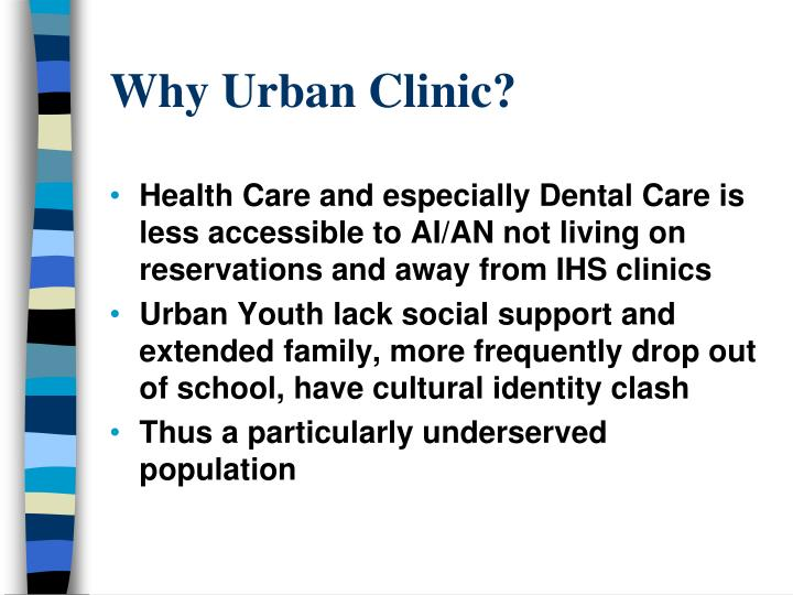 Why Urban Clinic?