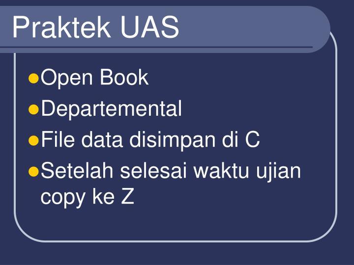 Praktek UAS