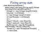 fixing array sum3