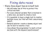 fixing data races
