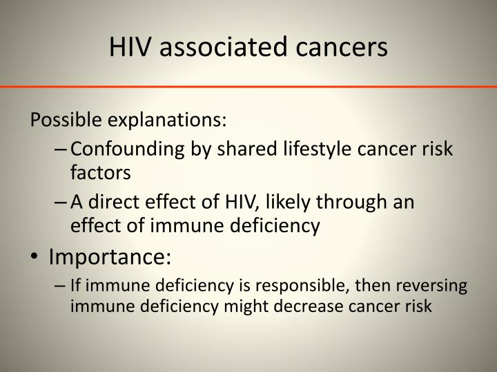 HIV associated cancers