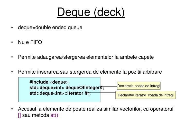 Deque (deck)