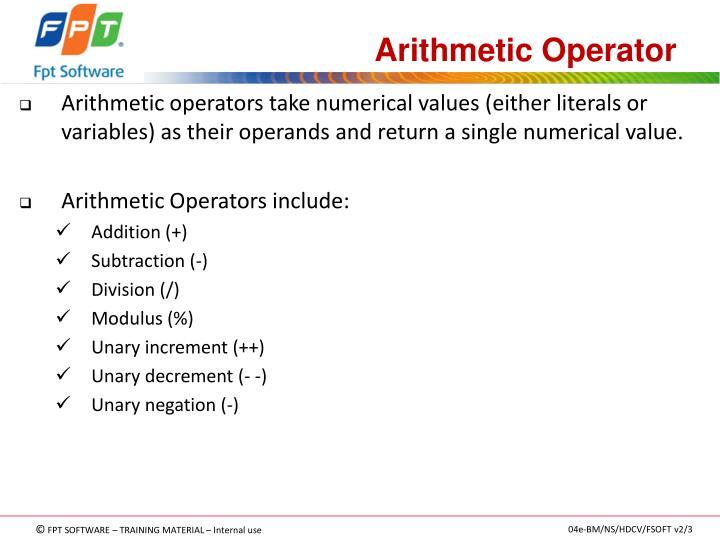 Arithmetic Operator