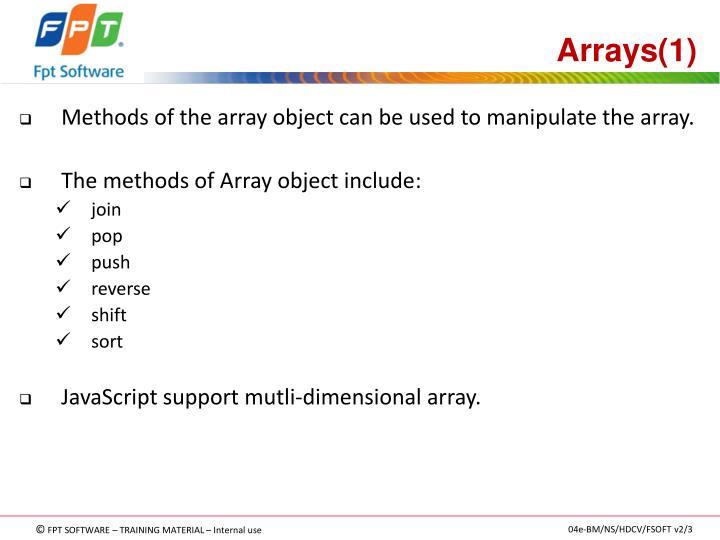 Arrays(1)