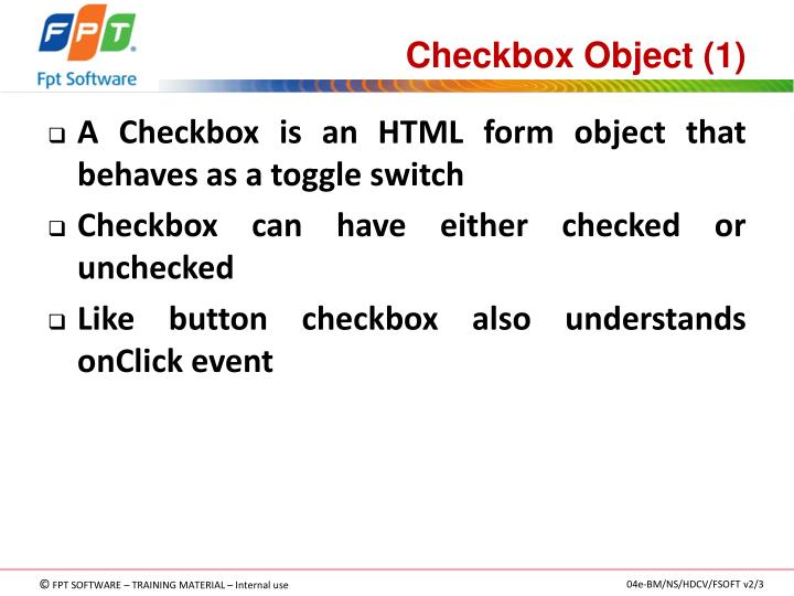 Checkbox Object (1)