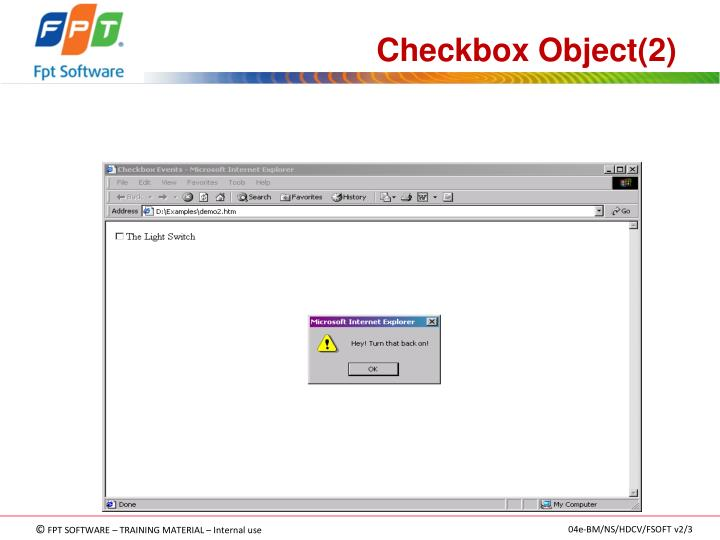 Checkbox Object(2)