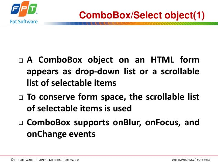 ComboBox/Select object(1)