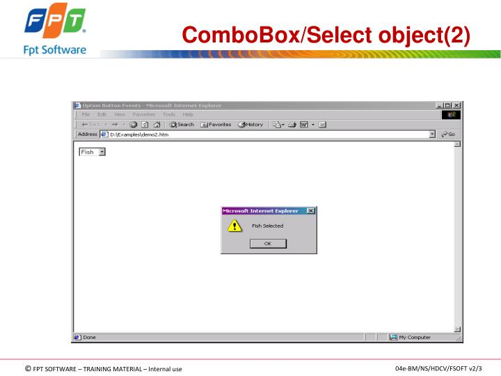 ComboBox/Select object(2)