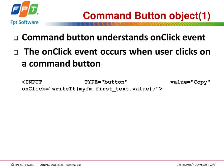 Command Button object(1)