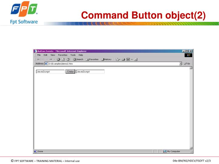 Command Button object(2)