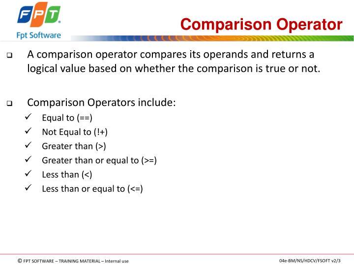 Comparison Operator