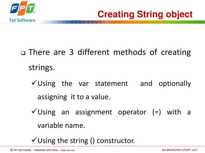 Creating String object