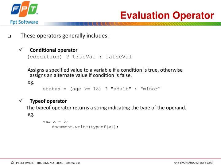 Evaluation Operator