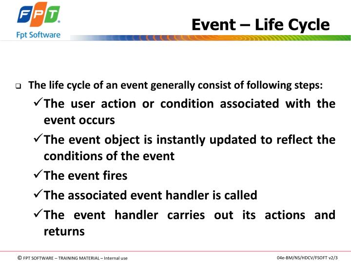 Event – Life Cycle