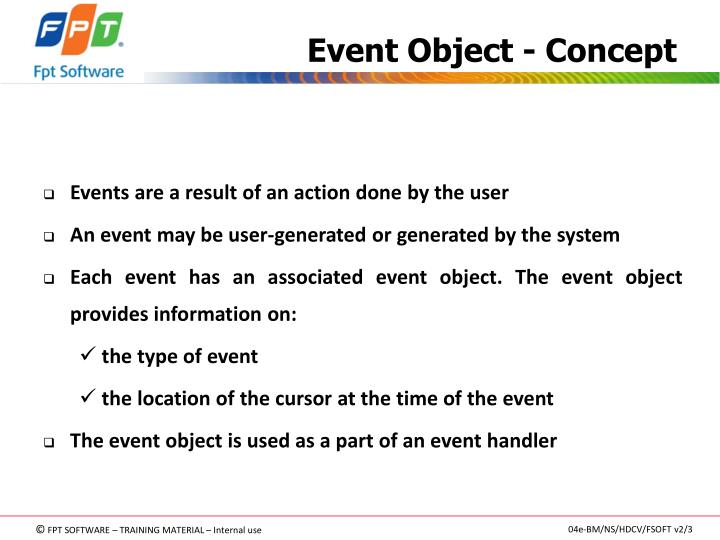 Event Object - Concept