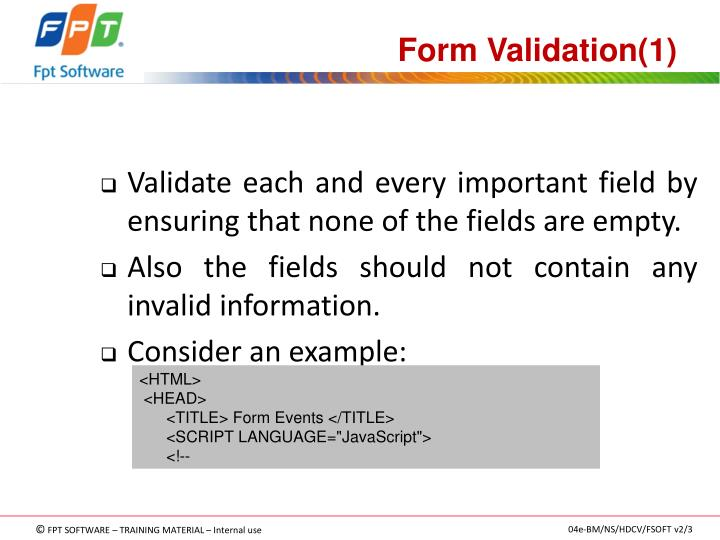 Form Validation(1)