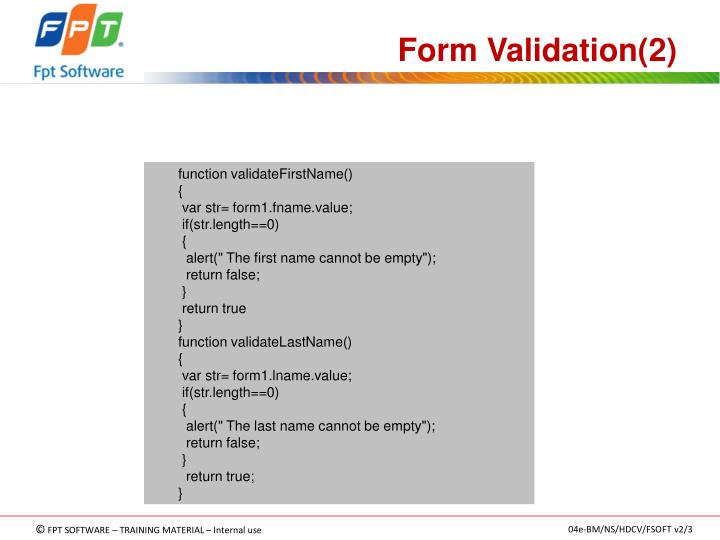 Form Validation(2)