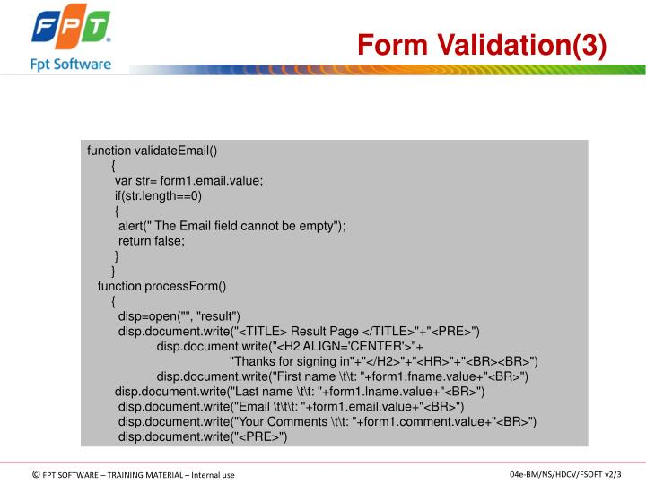 Form Validation(3)