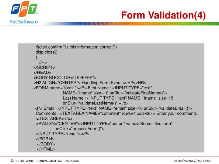 Form Validation(4)
