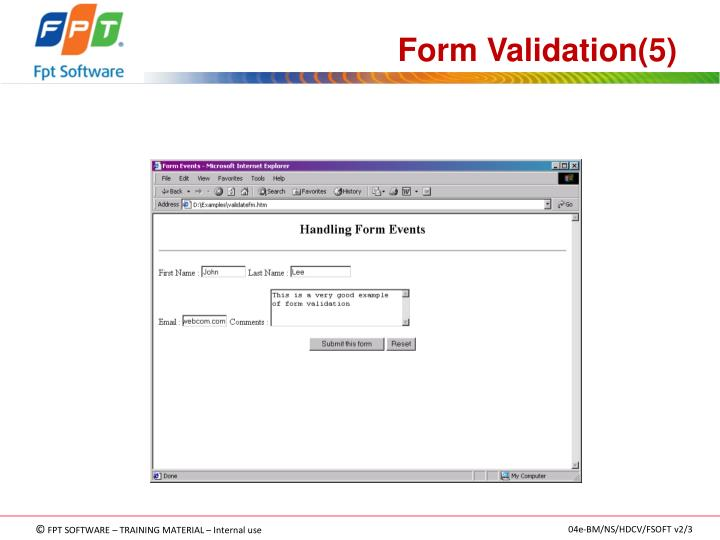 Form Validation(5)