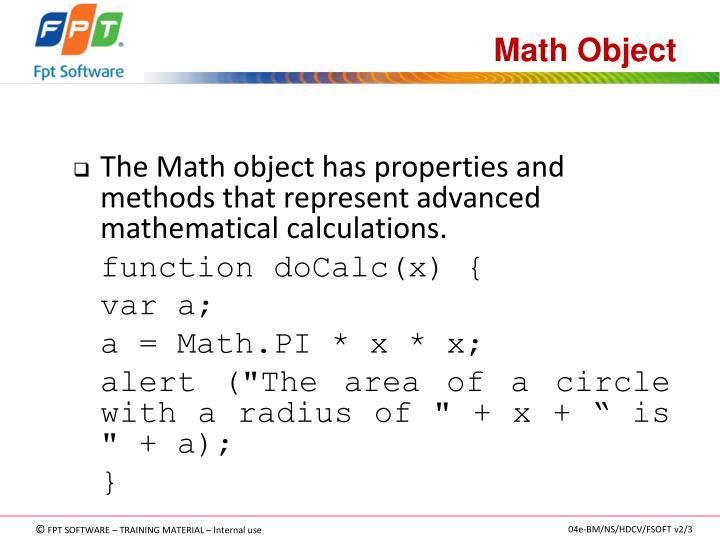 Math Object
