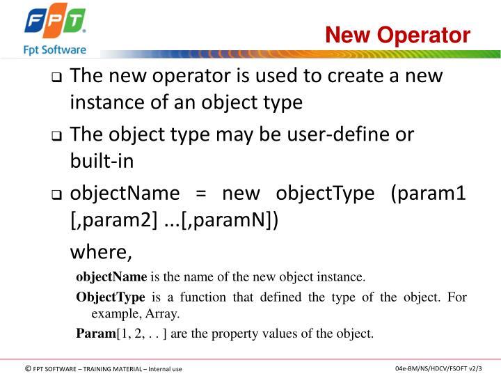 New Operator
