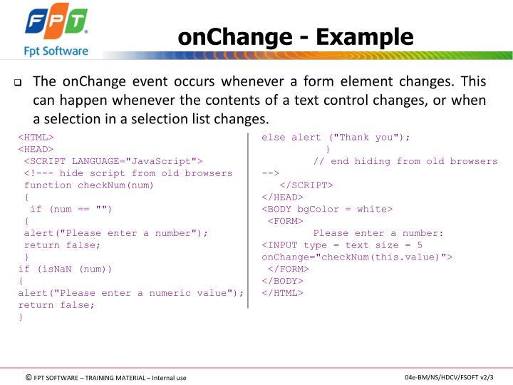 onChange - Example