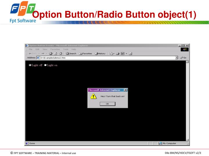 Option Button/Radio Button object(1)