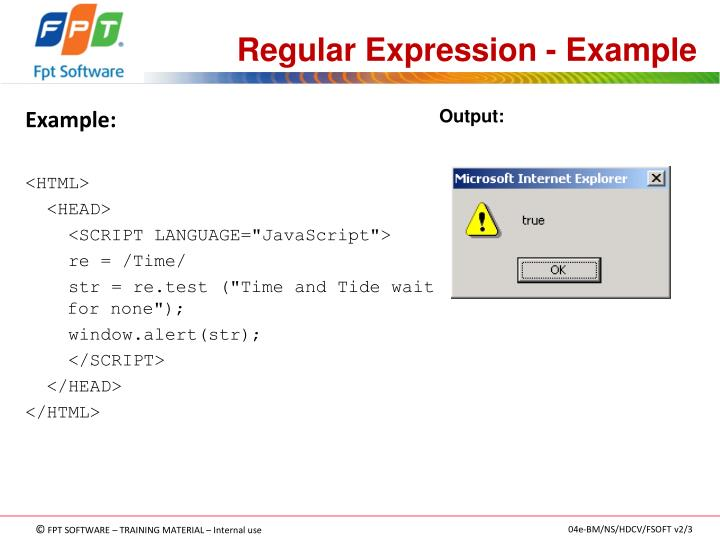 Regular Expression - Example