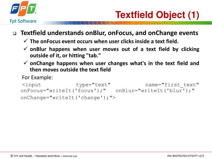 Textfield Object (1)