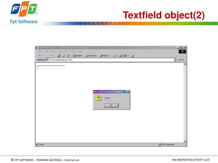 Textfield object(2)