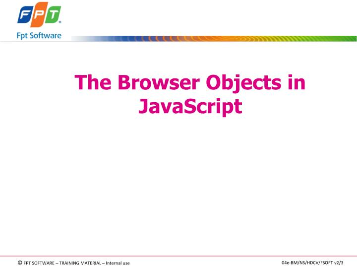 The Browser Objects in JavaScript