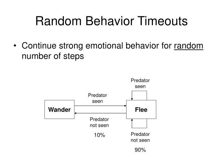 Random Behavior Timeouts