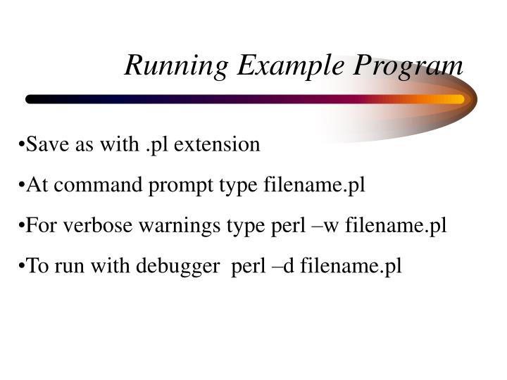 Running Example Program