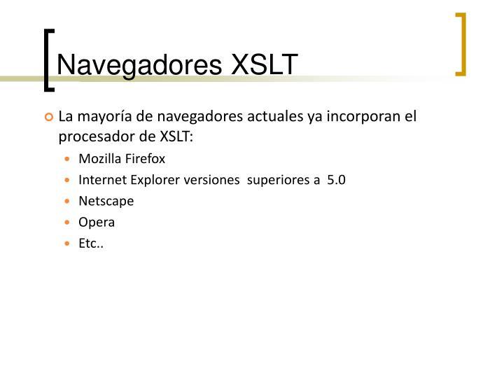 Navegadores XSLT