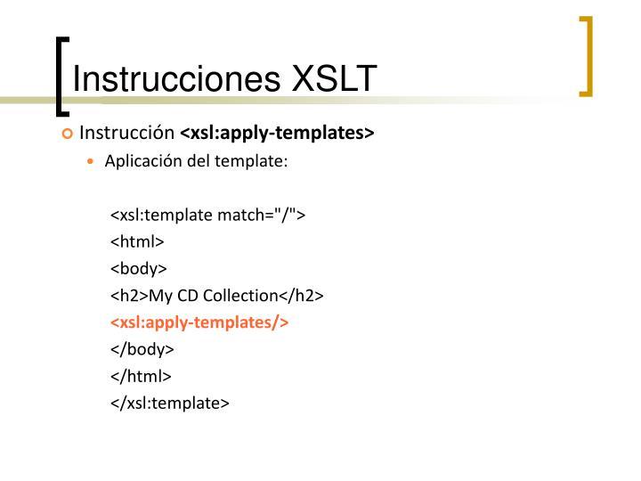 Instrucciones XSLT