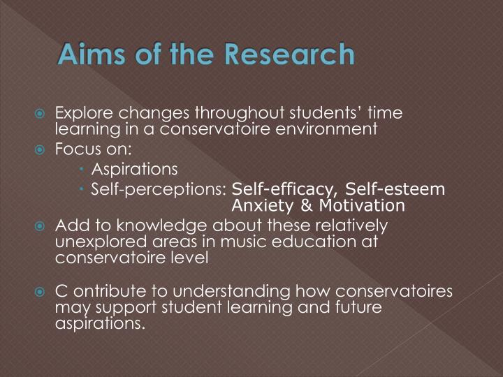 Aims of the research