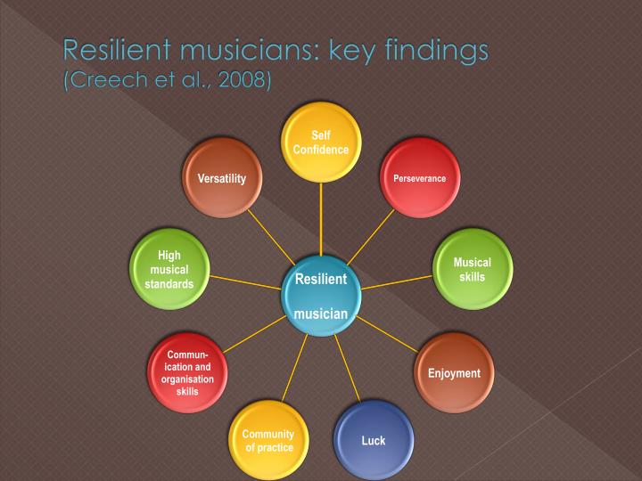 Resilient musicians: key findings