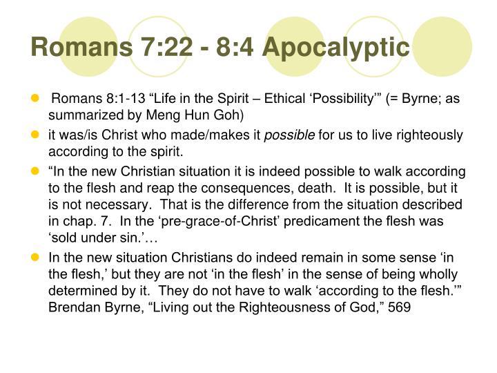 Romans 7:22 - 8:4 Apocalyptic