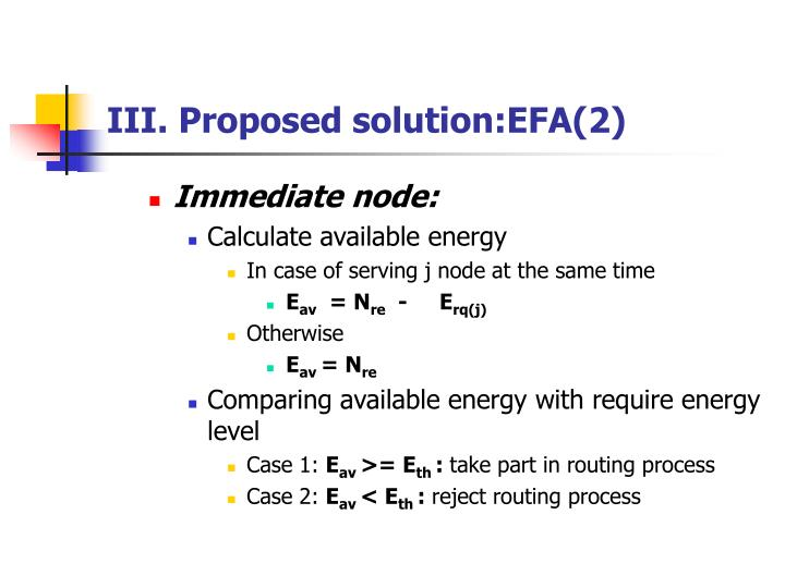 III. Proposed solution:EFA(2)