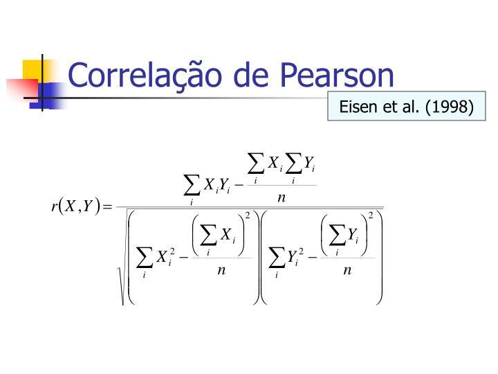 Correlação de Pearson
