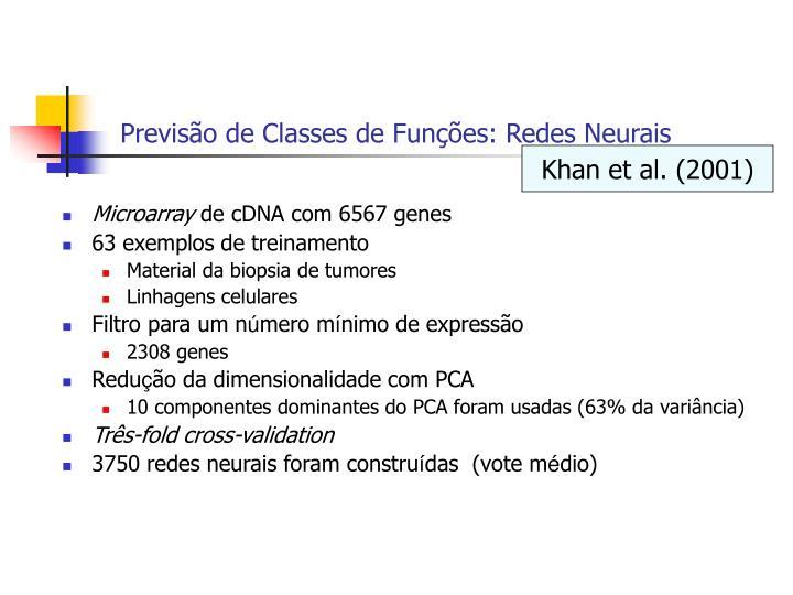 Previsão de Classes de Funções: Redes Neurais