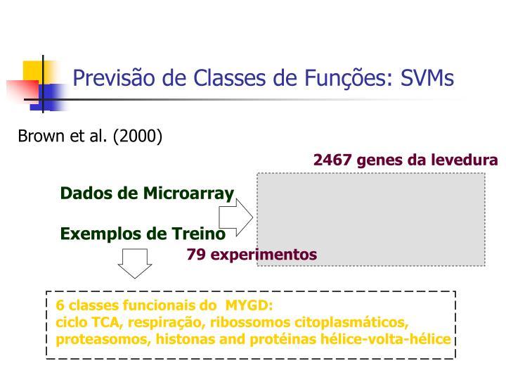 6 classes funcionais do  MYGD: