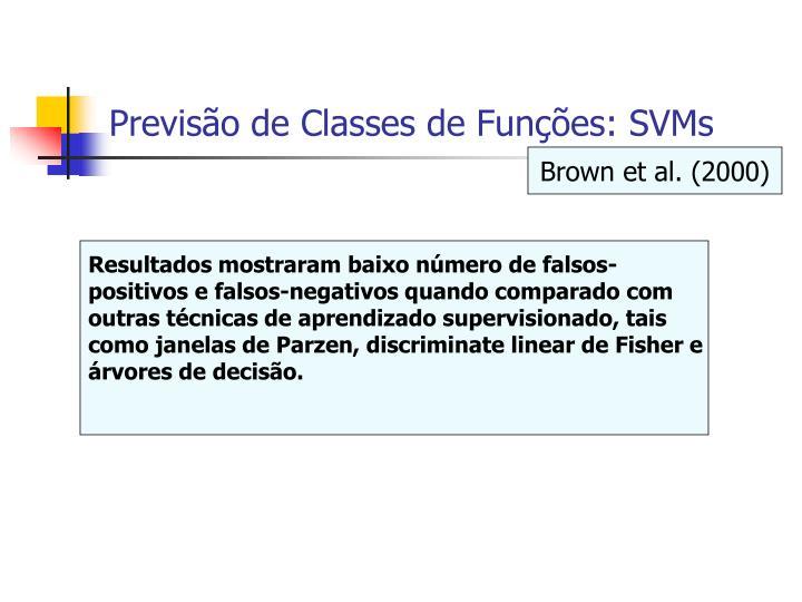 Previsão de Classes de Funções: