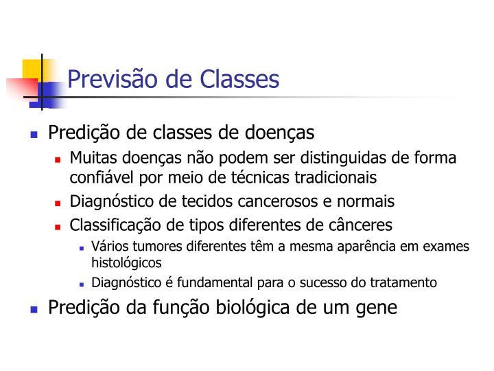 Previsão de Classes